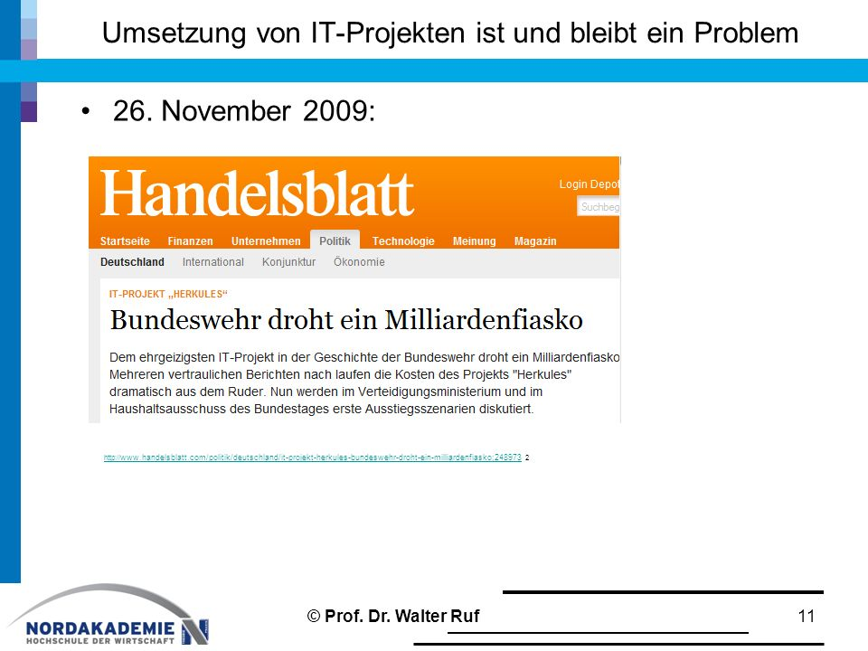 Umsetzung von IT-Projekten ist und bleibt ein Problem