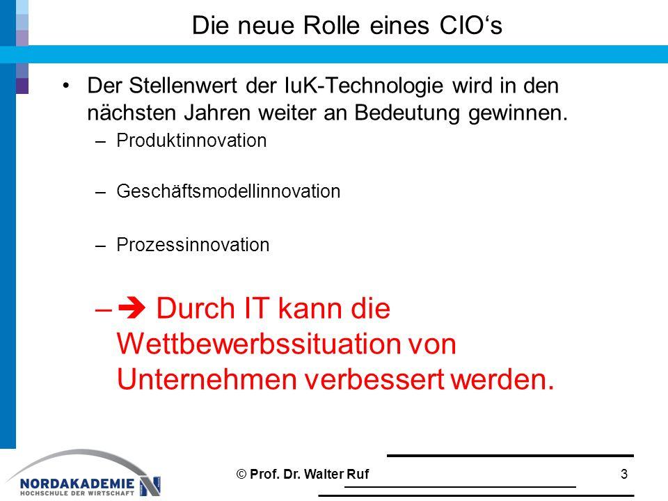 Die neue Rolle eines CIO's