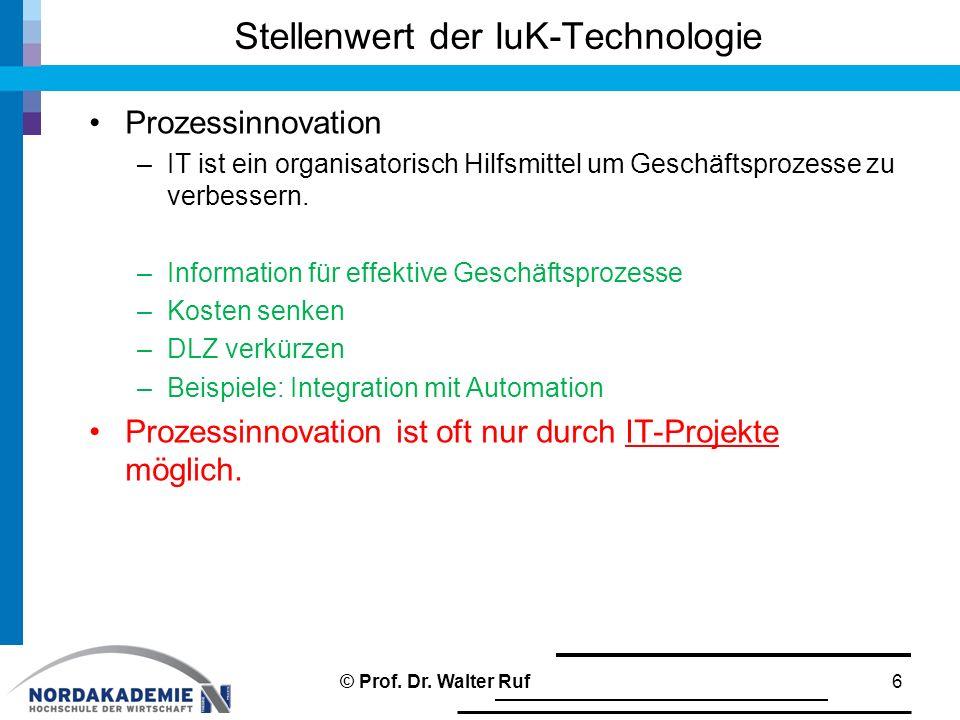 Stellenwert der IuK-Technologie