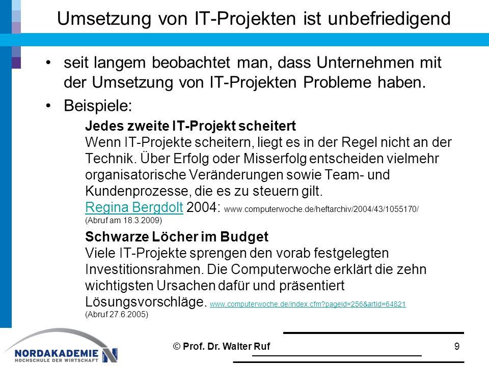 Umsetzung von IT-Projekten ist unbefriedigend