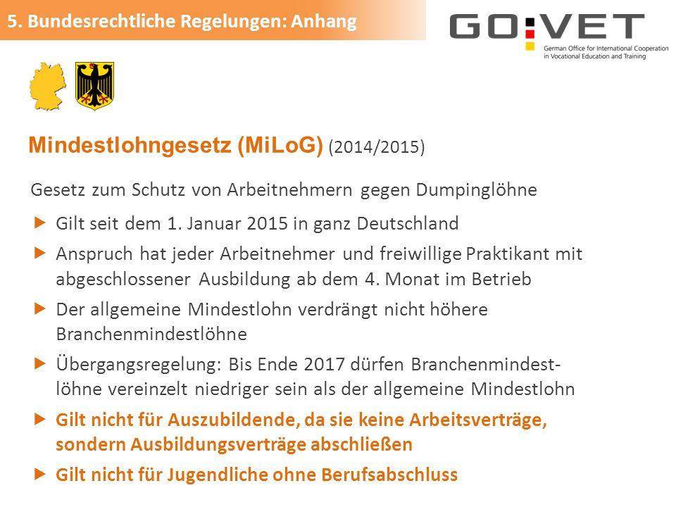 Mindestlohngesetz (MiLoG) (2014/2015)