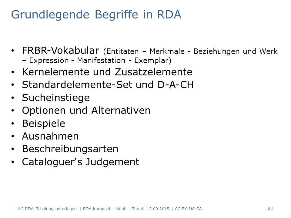 Grundlegende Begriffe in RDA