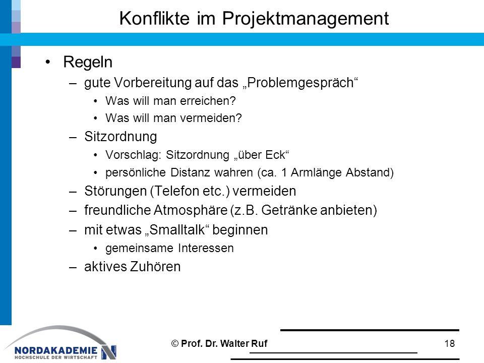 Konflikte im Projektmanagement