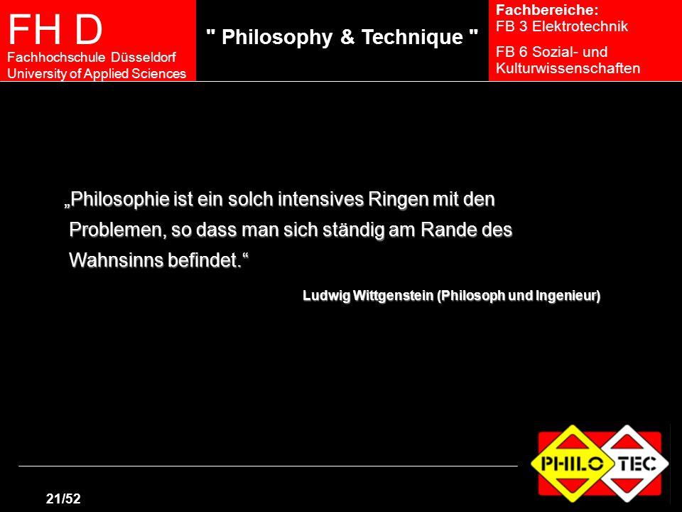 """""""Philosophie ist ein solch intensives Ringen mit den"""