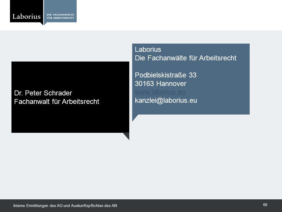 Die Fachanwälte für Arbeitsrecht Podbielskistraße 33 30163 Hannover