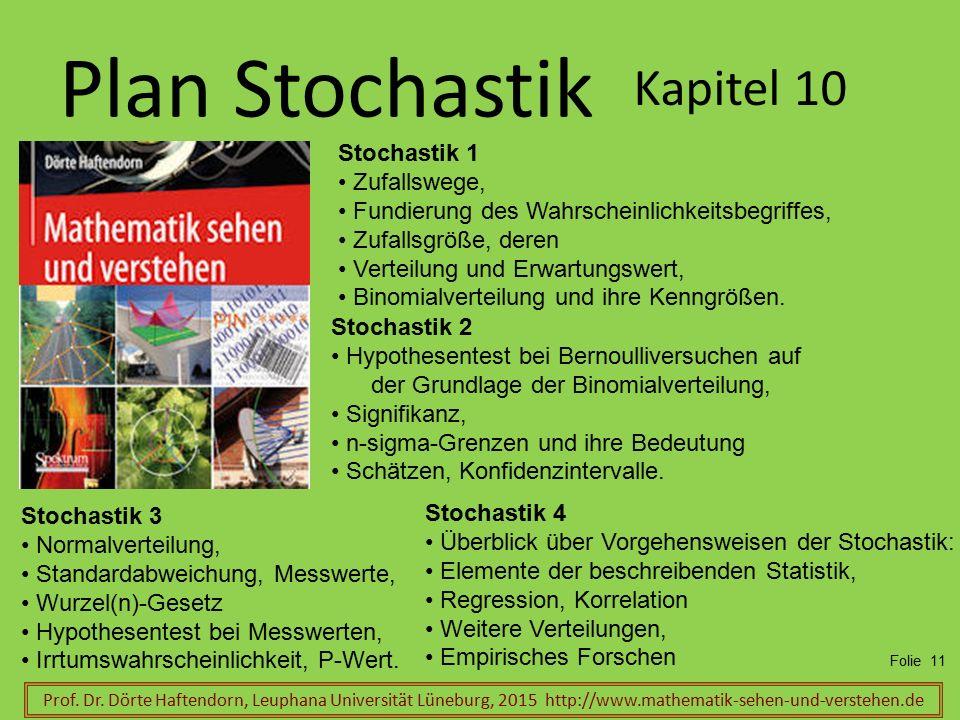 Plan Stochastik Kapitel 10 Stochastik 1 Zufallswege,