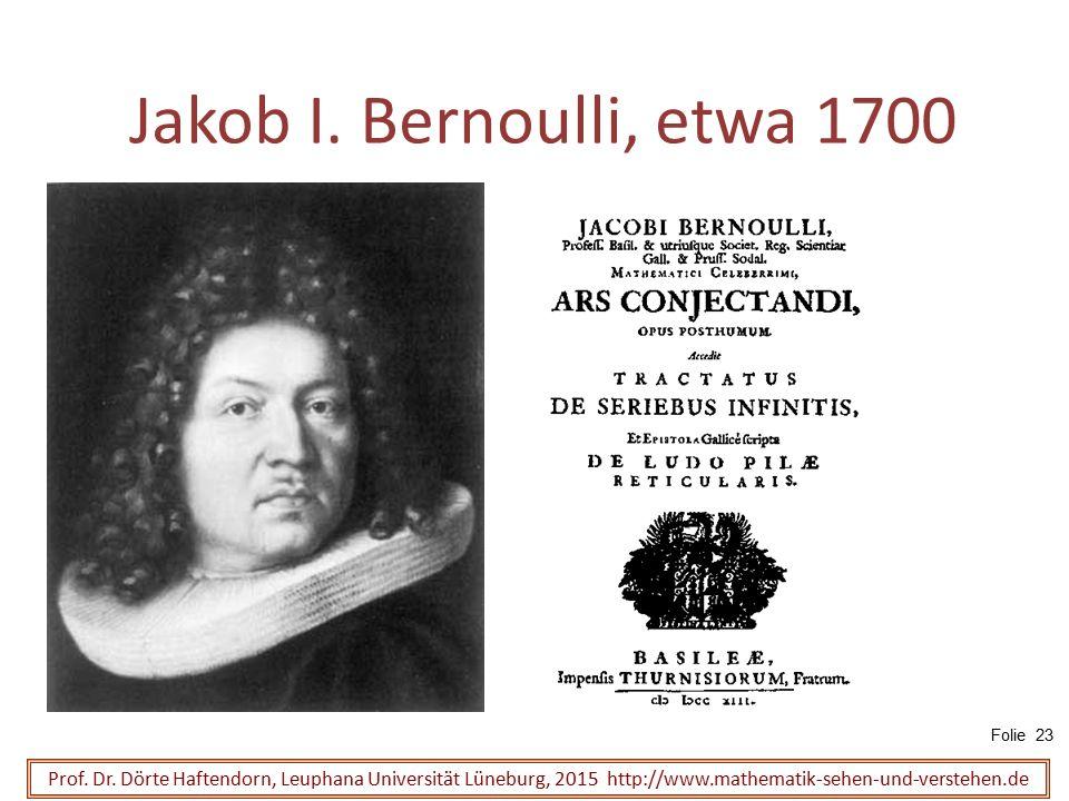 Jakob I. Bernoulli, etwa 1700 Folie 23.