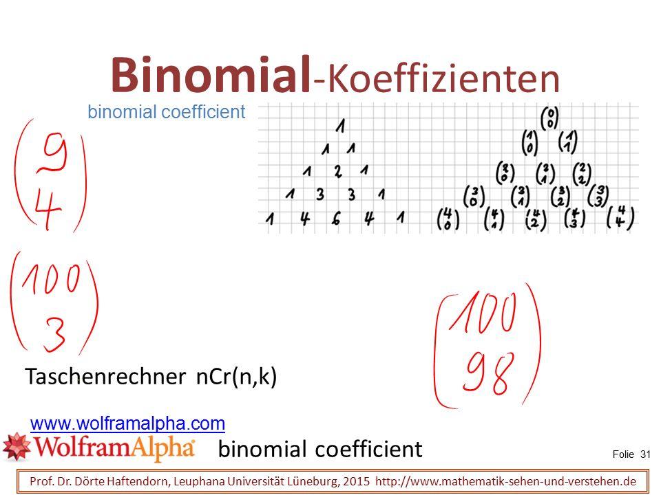 Binomial-Koeffizienten