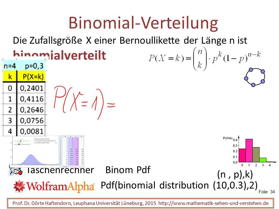 Binomial-Verteilung Die Zufallsgröße X einer Bernoullikette der Länge n ist binomialverteilt. Taschenrechner Binom Pdf.