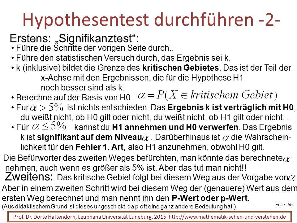 Hypothesentest durchführen -2-