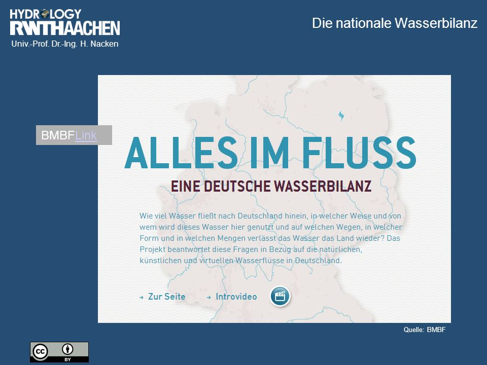 Die nationale Wasserbilanz