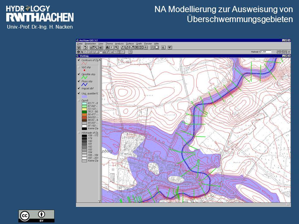 NA Modellierung zur Ausweisung von Überschwemmungsgebieten