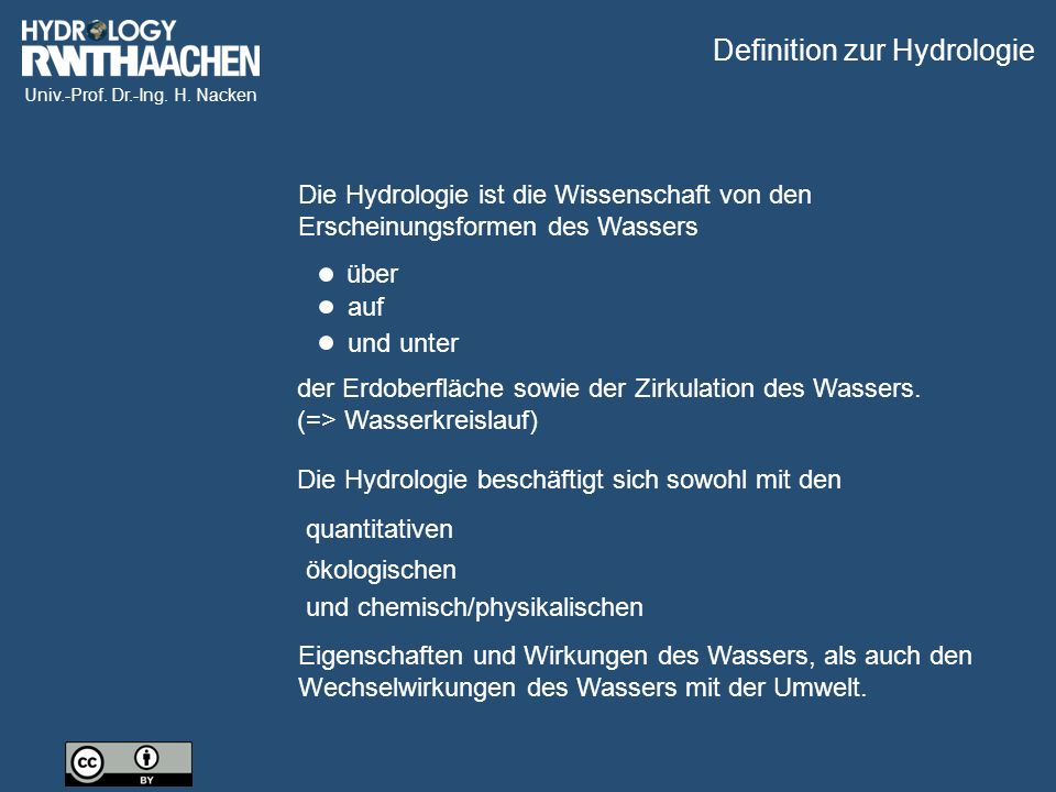 Definition zur Hydrologie
