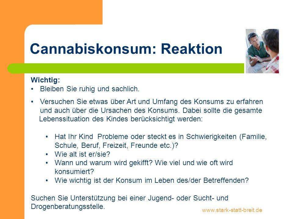 Cannabiskonsum: Reaktion