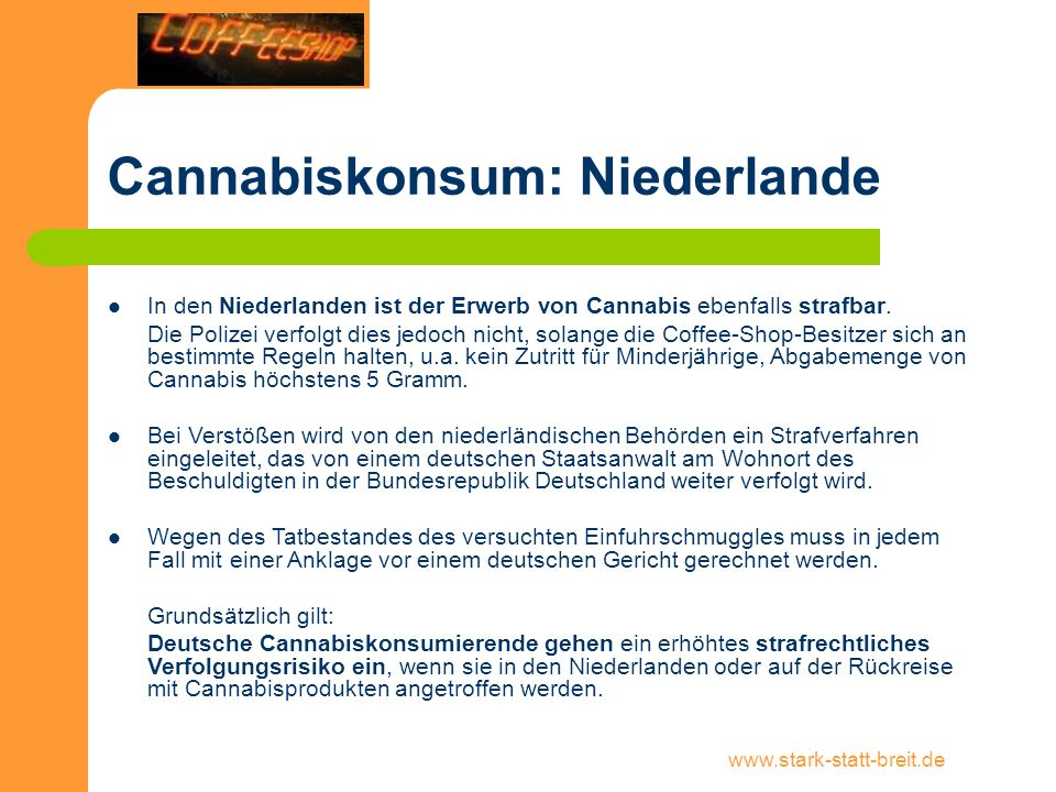 Cannabiskonsum: Niederlande
