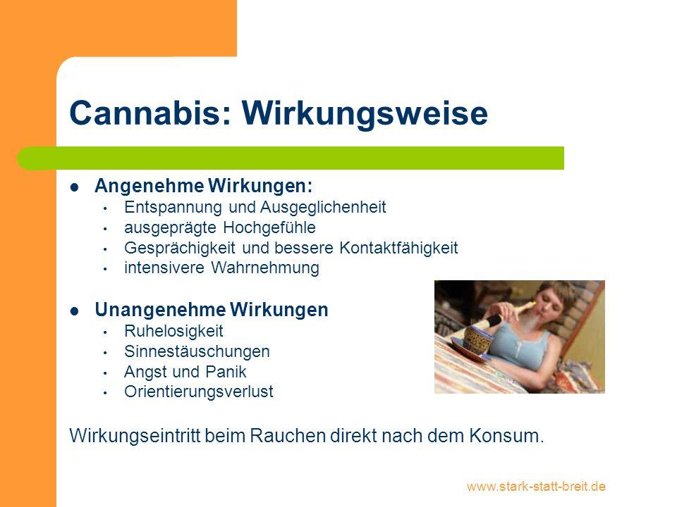Cannabis: Wirkungsweise