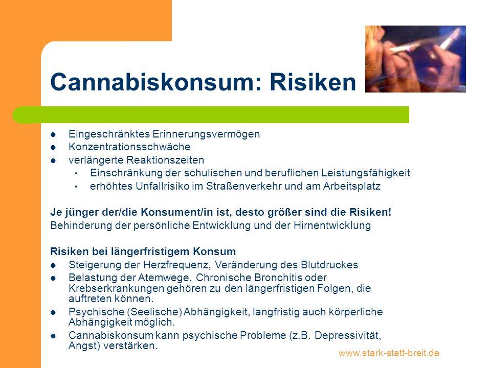 Cannabiskonsum: Risiken