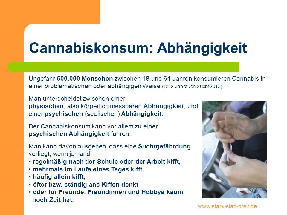 Cannabiskonsum: Abhängigkeit