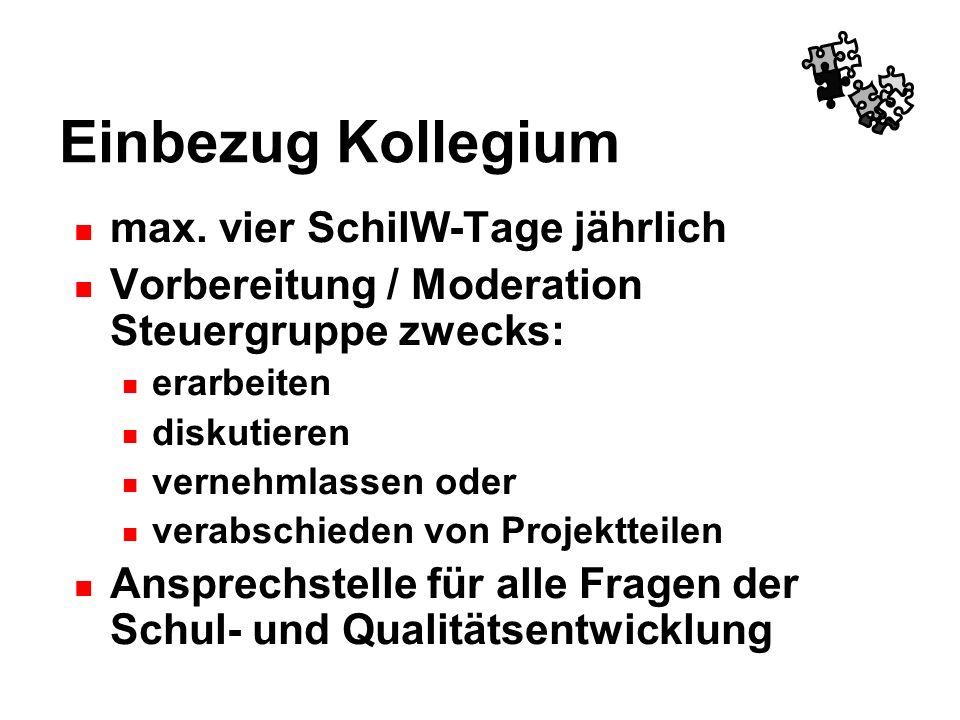 Einbezug Kollegium max. vier SchilW-Tage jährlich