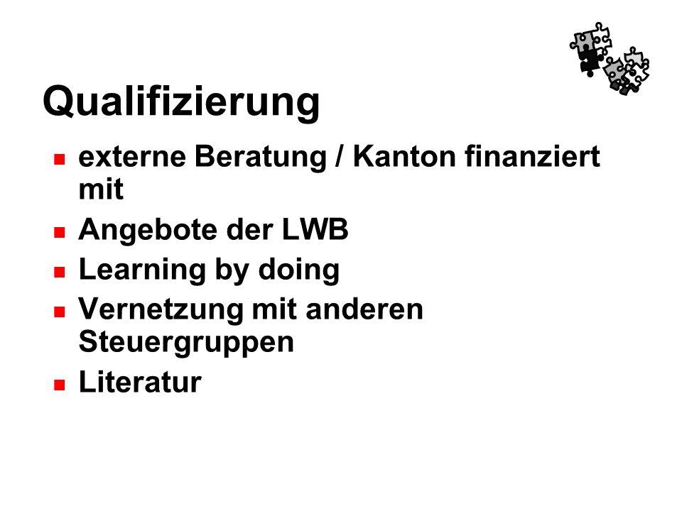 Qualifizierung externe Beratung / Kanton finanziert mit