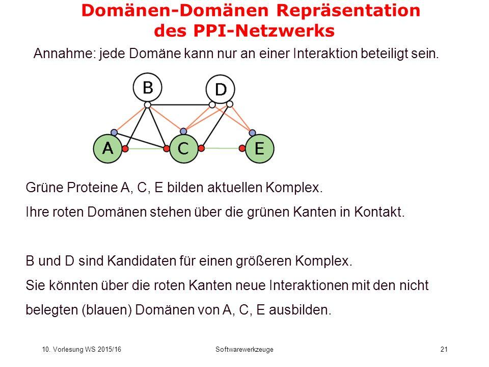 Domänen-Domänen Repräsentation des PPI-Netzwerks