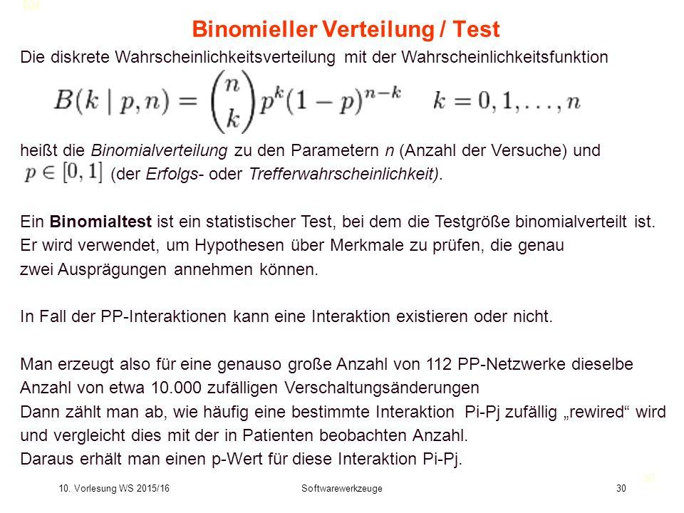Binomieller Verteilung / Test