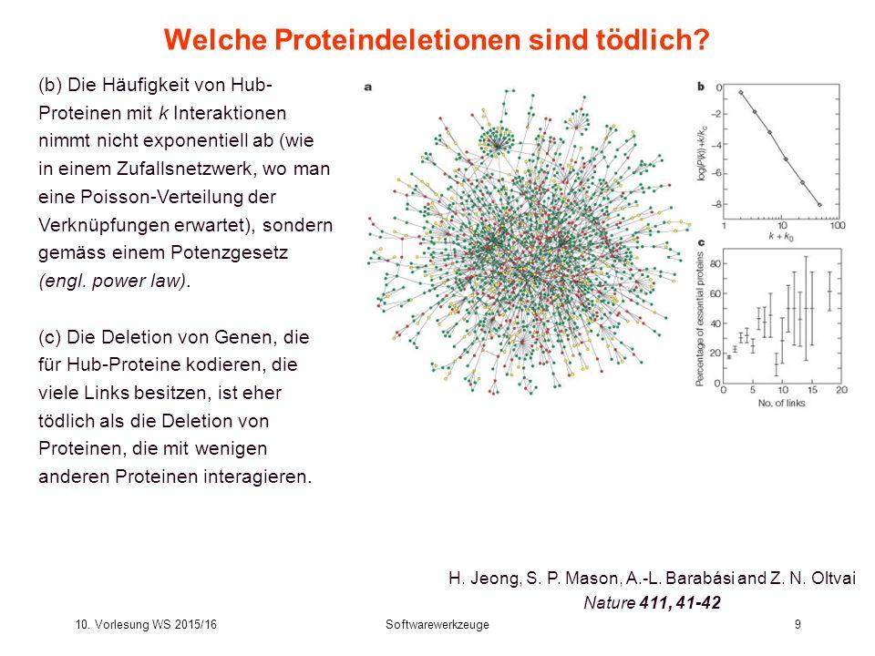 Welche Proteindeletionen sind tödlich