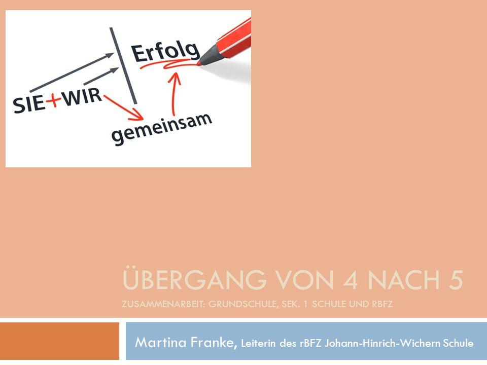 Martina Franke, Leiterin des rBFZ Johann-Hinrich-Wichern Schule
