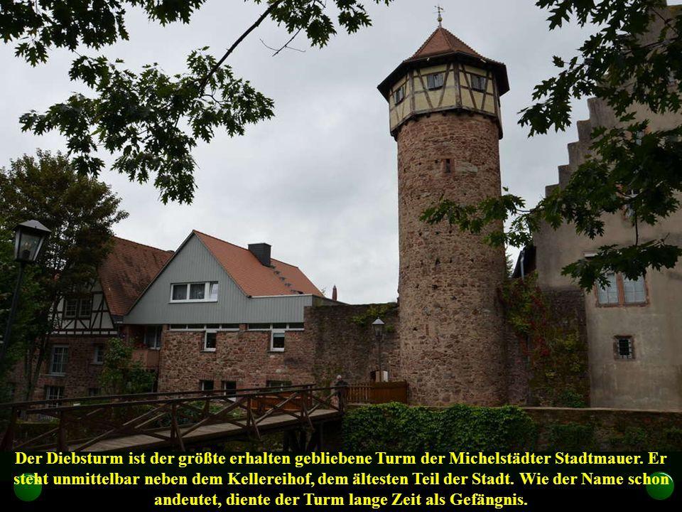 Der Diebsturm ist der größte erhalten gebliebene Turm der Michelstädter Stadtmauer.
