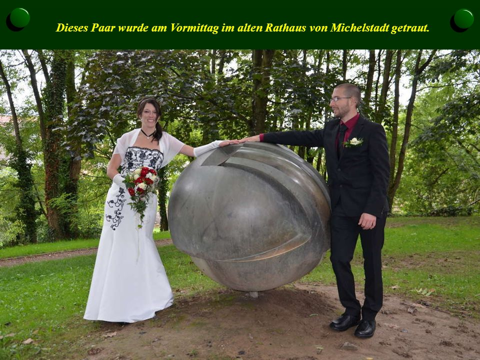 Dieses Paar wurde am Vormittag im alten Rathaus von Michelstadt getraut.