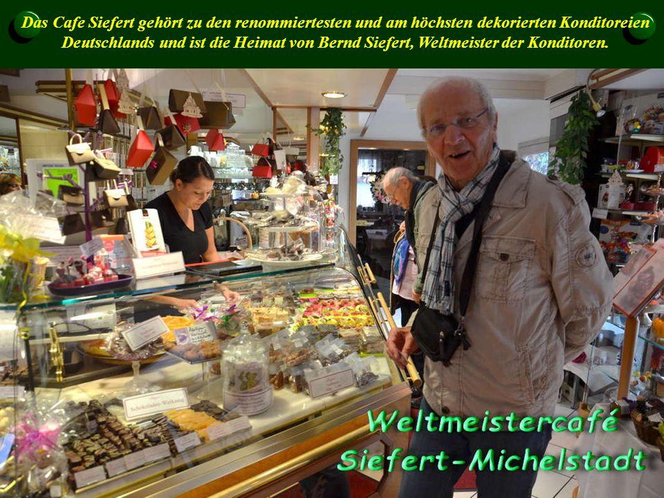 Das Cafe Siefert gehört zu den renommiertesten und am höchsten dekorierten Konditoreien Deutschlands und ist die Heimat von Bernd Siefert, Weltmeister der Konditoren.