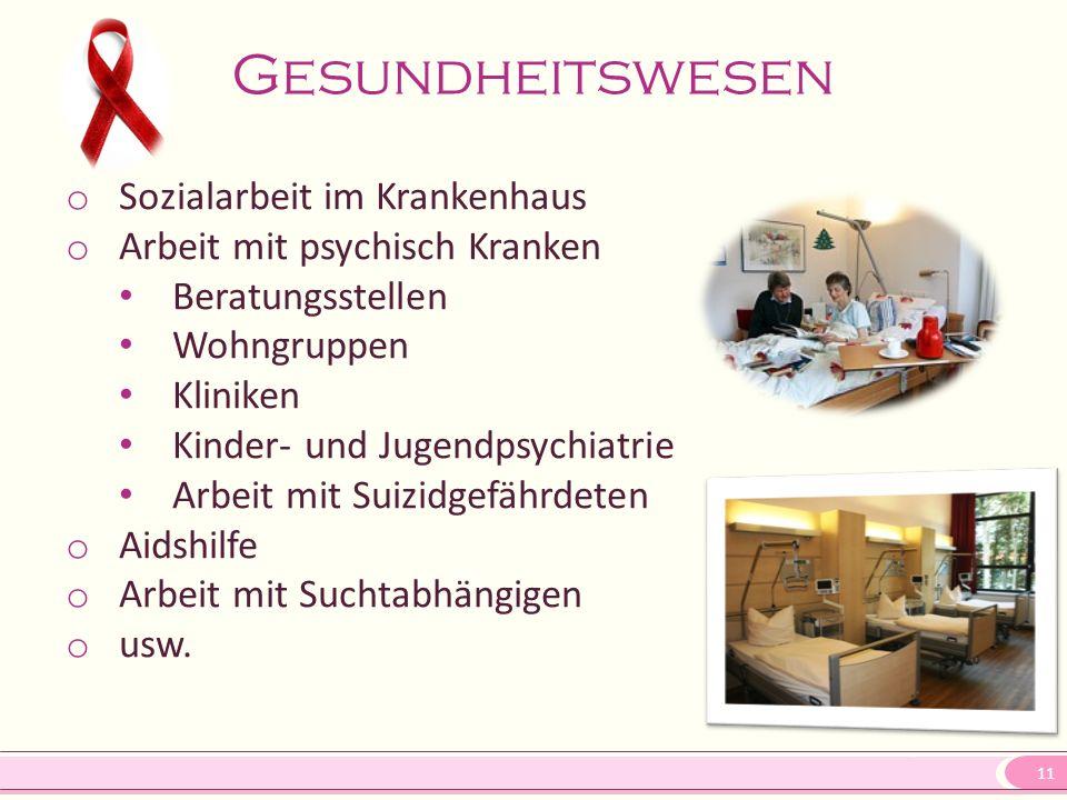 Gesundheitswesen Sozialarbeit im Krankenhaus