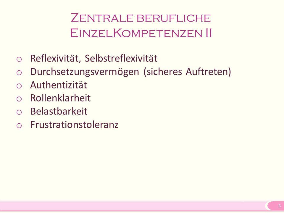 Zentrale berufliche EinzelKompetenzen II