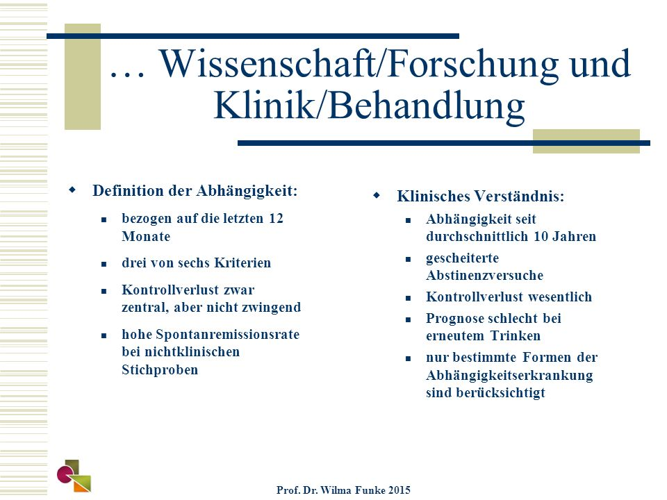 … Wissenschaft/Forschung und Klinik/Behandlung