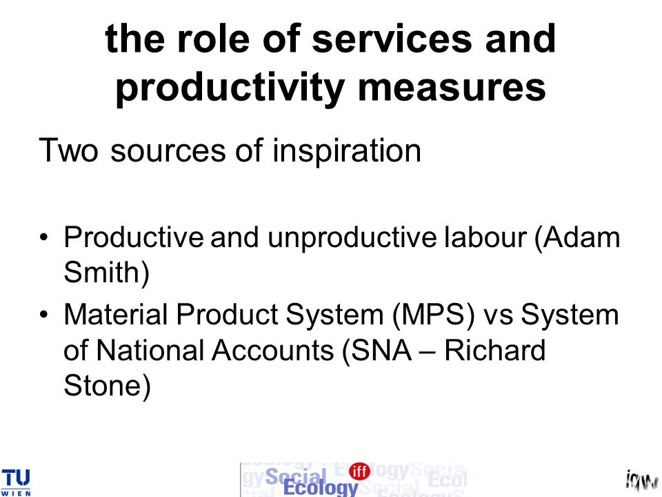 the role of services and productivity measures