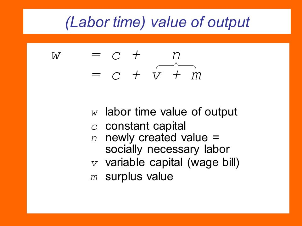 (Labor time) value of output