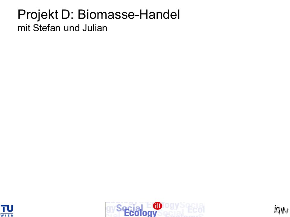 Projekt D: Biomasse-Handel mit Stefan und Julian