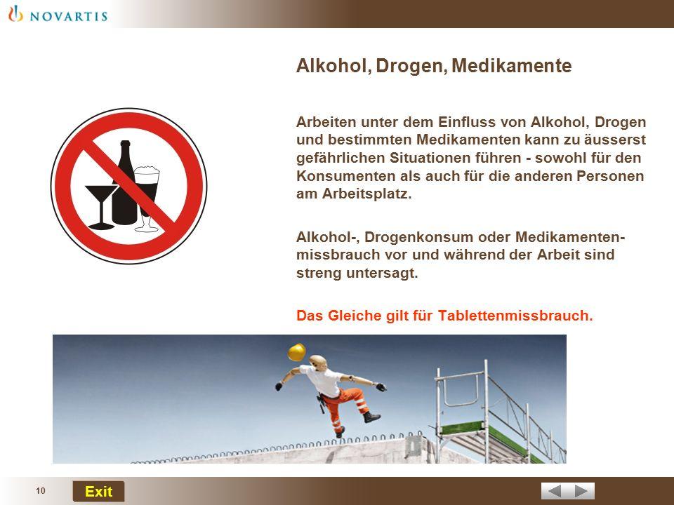 Alkohol, Drogen, Medikamente