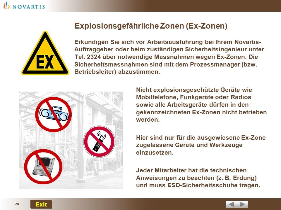 Explosionsgefährliche Zonen (Ex-Zonen)