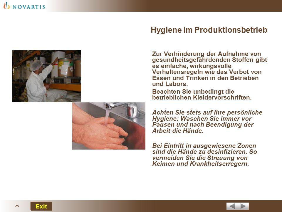 Hygiene im Produktionsbetrieb