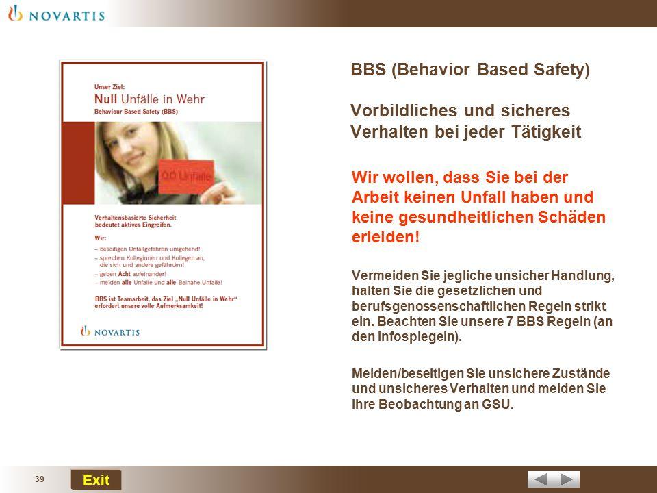 BBS (Behavior Based Safety) Vorbildliches und sicheres Verhalten bei jeder Tätigkeit