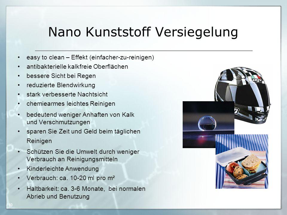 Nano Kunststoff Versiegelung
