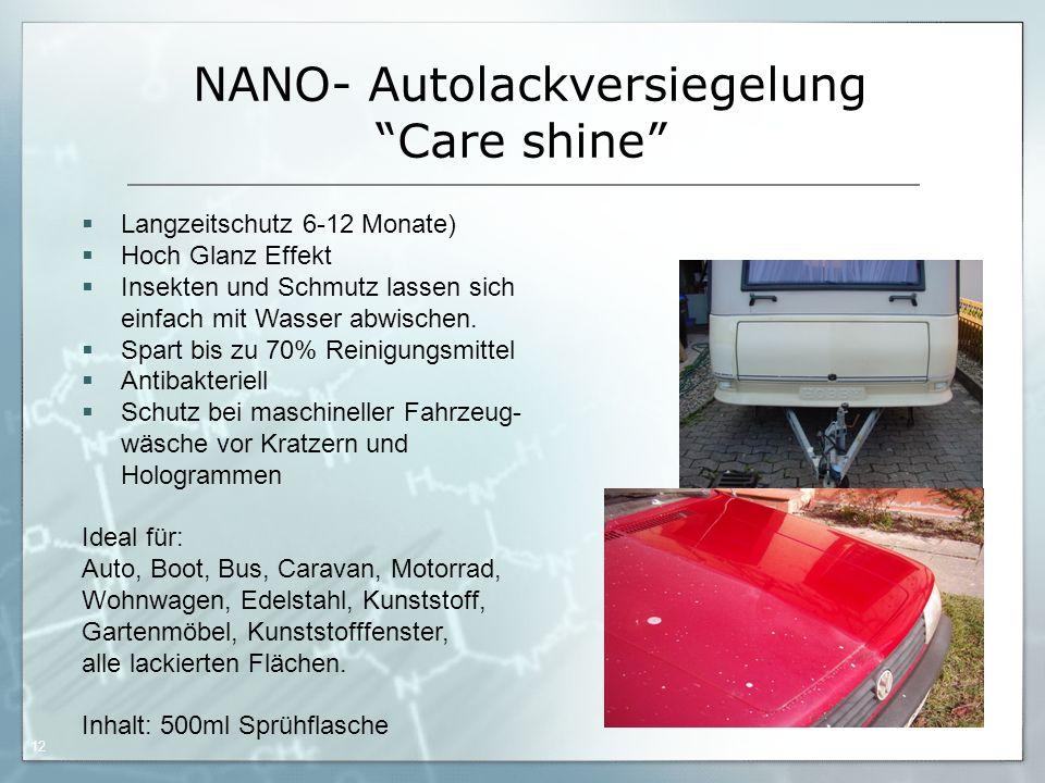 NANO- Autolackversiegelung Care shine