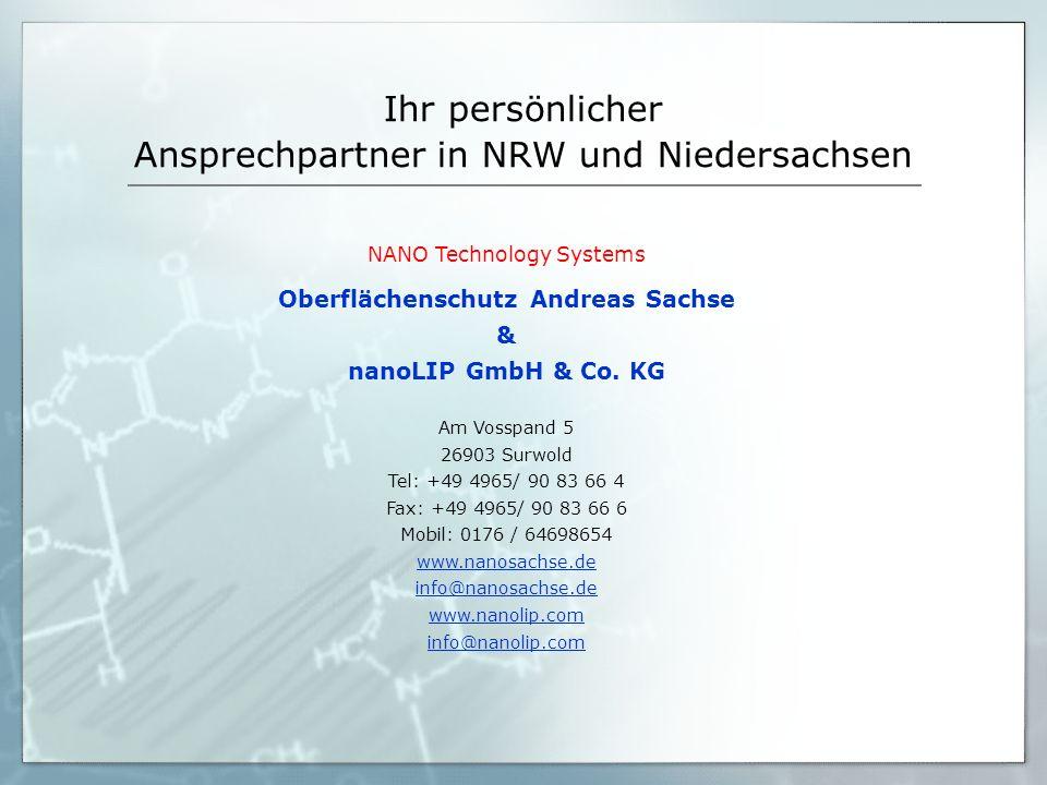 Ihr persönlicher Ansprechpartner in NRW und Niedersachsen