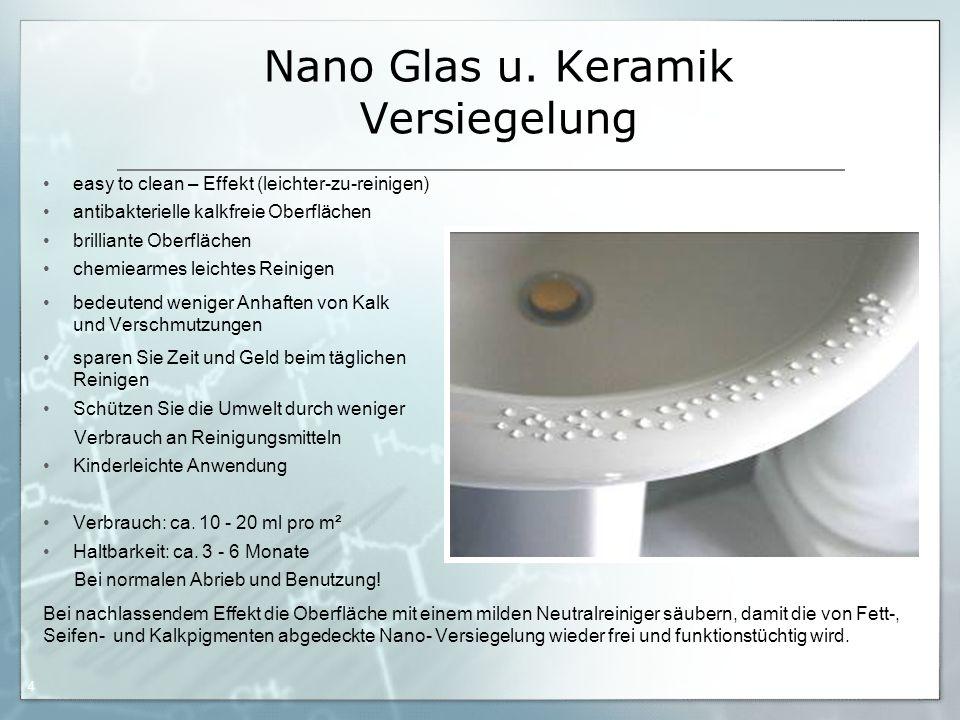 Nano Glas u. Keramik Versiegelung