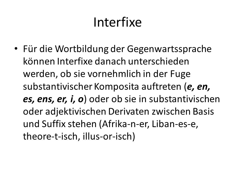 Interfixe