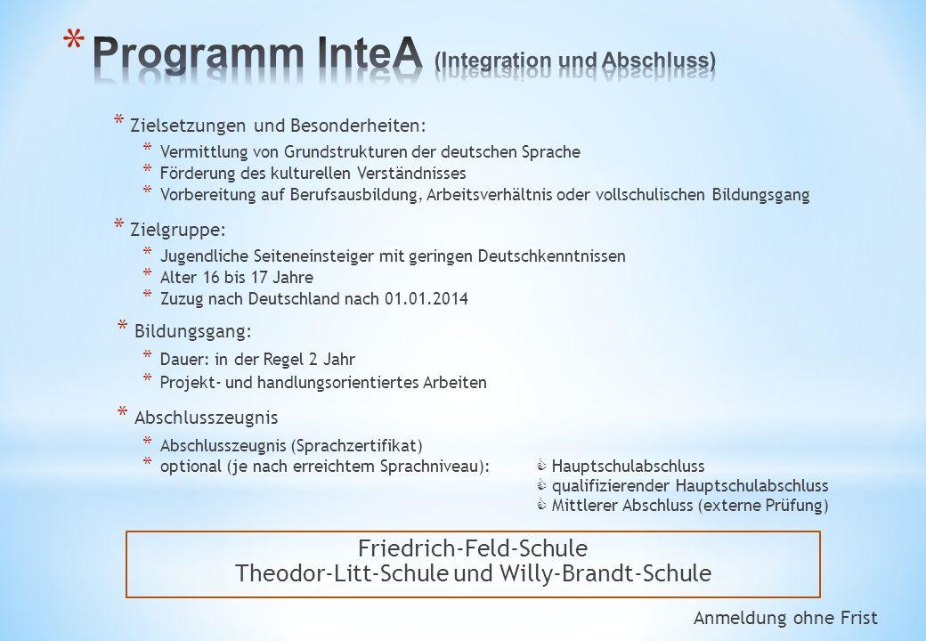 Friedrich-Feld-Schule Theodor-Litt-Schule und Willy-Brandt-Schule
