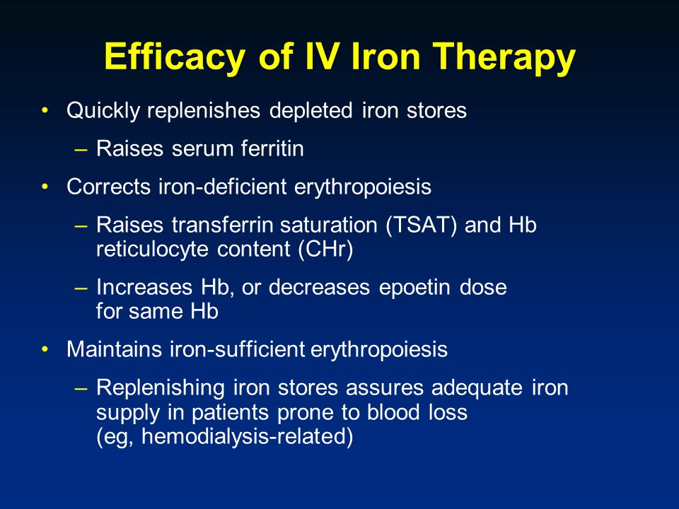 Efficacy of IV Iron Therapy