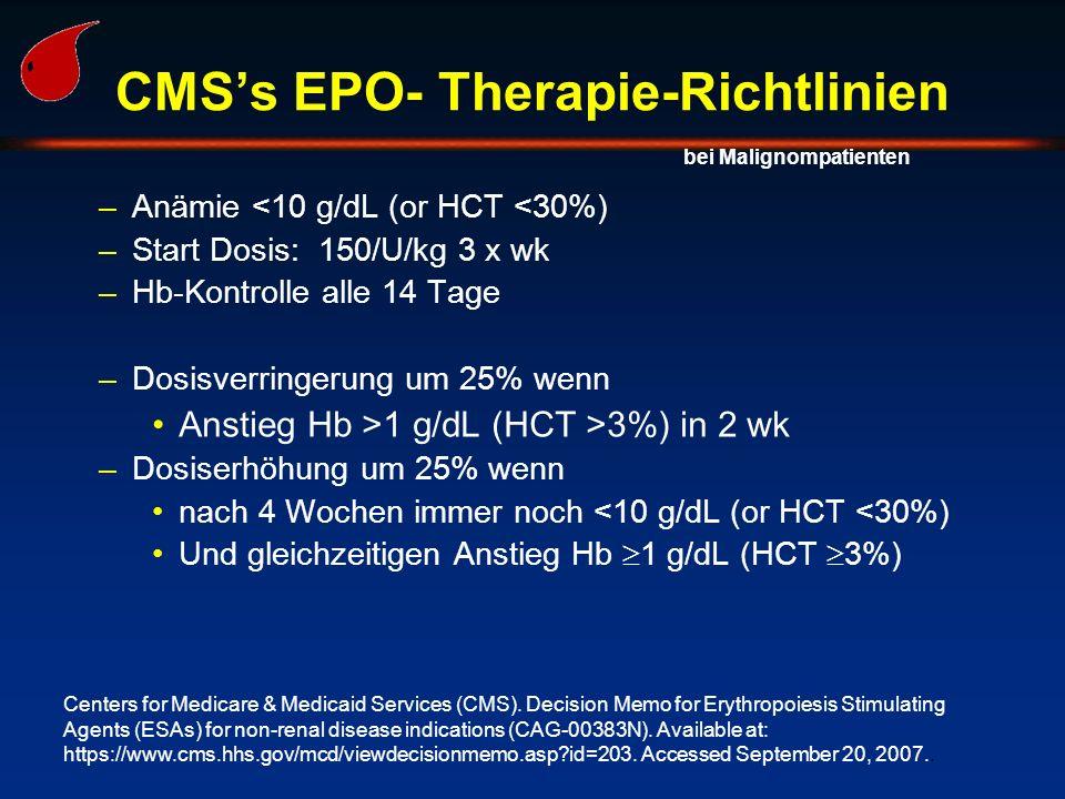 CMS's EPO- Therapie-Richtlinien
