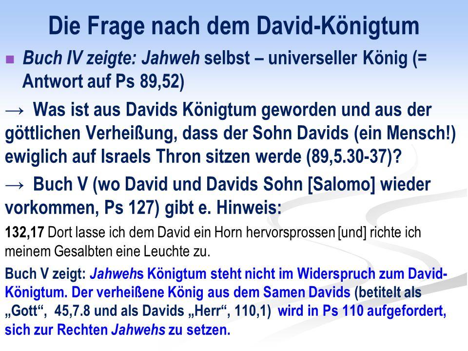 Die Frage nach dem David-Königtum
